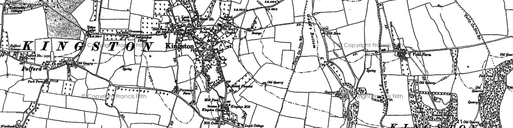 Old map of Kingston St Mary in 1887