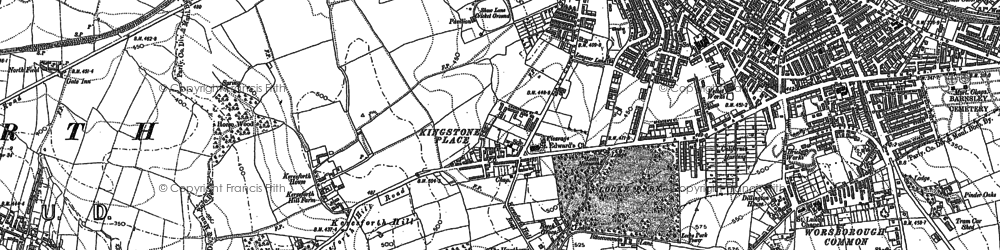 Old map of Kingstone in 1851