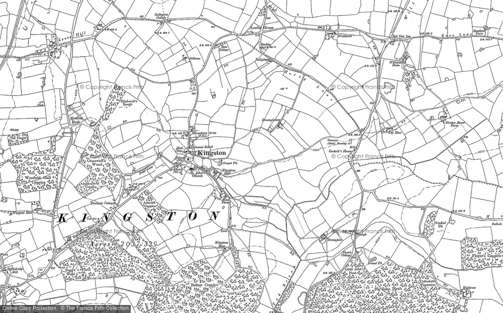 Old Map of Historic Map covering Bagot Forest in 1881
