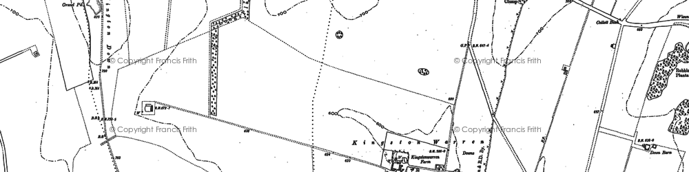 Old map of Whitehorse Hill in 1910