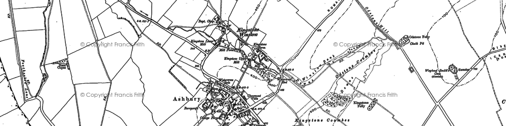 Old map of Zulu Buildings in 1898