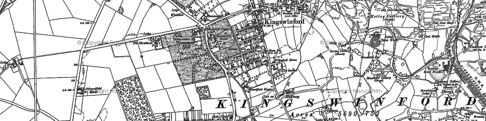 Old map of Ashwoodfield Ho in 1881