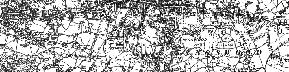 Old map of Kingswood in 1881
