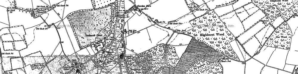 Old map of Kingswood in 1895