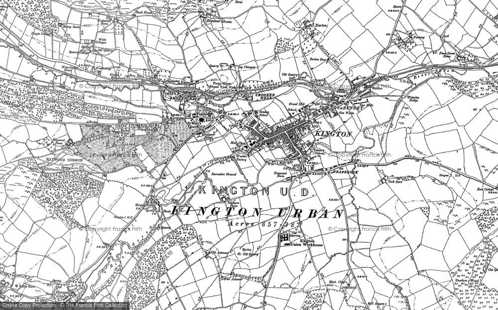 Old Map of Historic Map covering Ashmoor in 1902