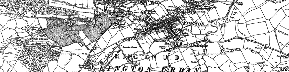 Old map of Ashmoor in 1902