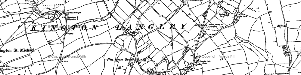 Old map of Bowldown in 1899