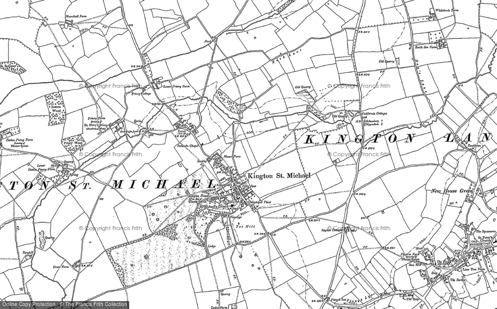 Old Map of Kington St Michael, 1899 - 1919 in 1899