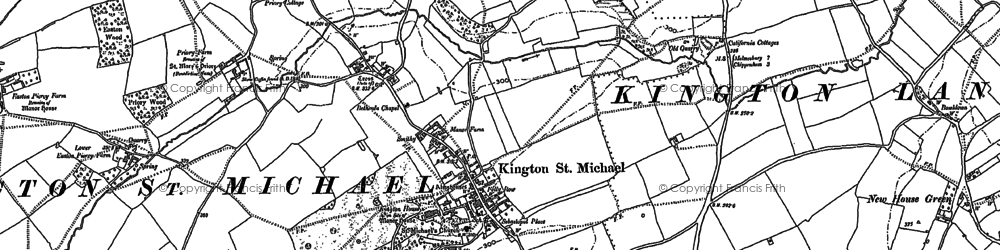 Old map of Kington St Michael in 1899