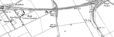 Old map of Kinmel Bay centred on your home
