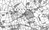 Old Map of Kinnersley, 1885 - 1886