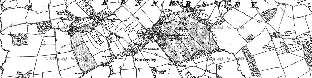 Old map of Ailey in 1885