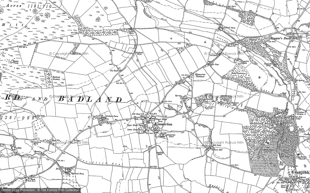 Old Map of Historic Map covering Bank in 1886