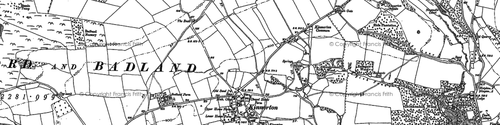 Old map of Bache Hill in 1886