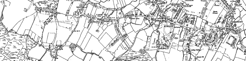 Old map of Turbary Common in 1907