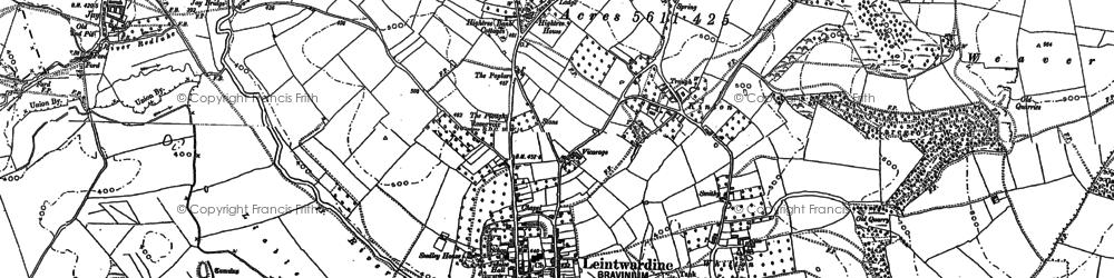 Old map of Leintwardine Manor in 1902