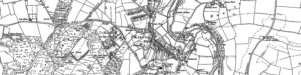 Old map of Kinver in 1901