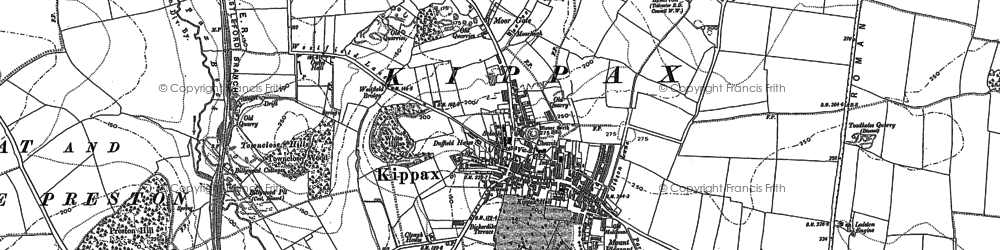 Old map of Kippax in 1890