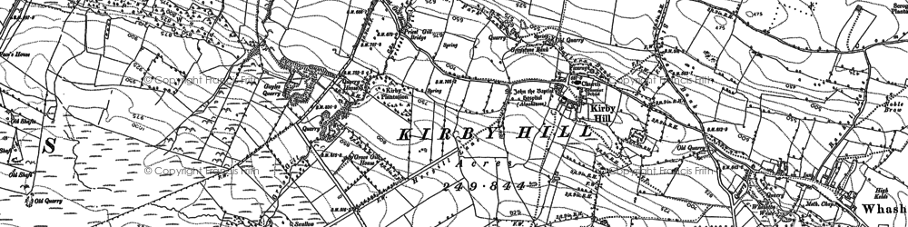 Old map of Kirby Hill in 1892