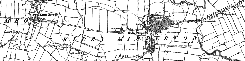 Old map of Barker Stakes in 1880