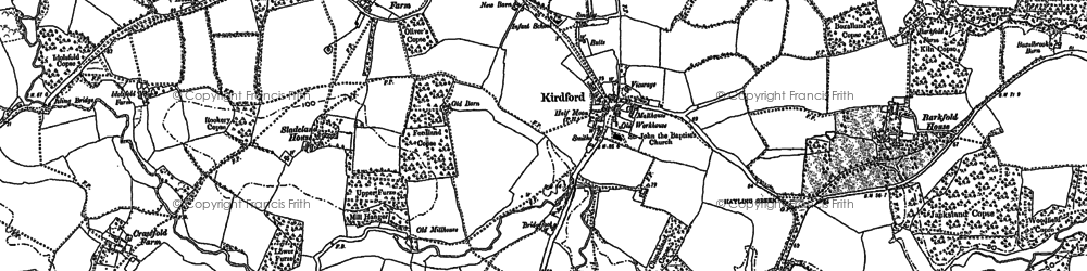 Old map of Barkfold Manor in 1895
