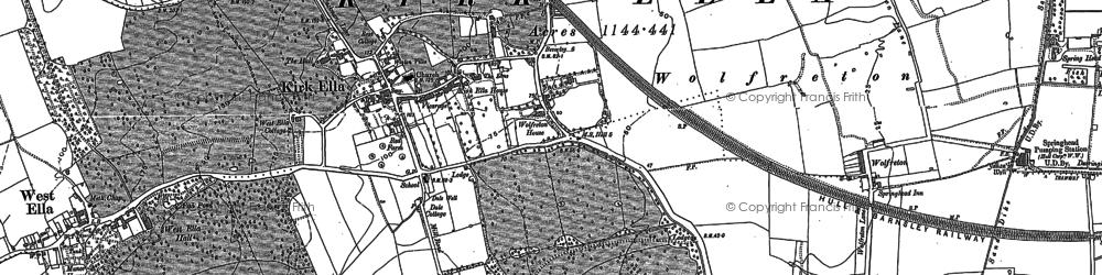 Old map of Kirk Ella in 1888