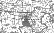Old Map of Kirk Hammerton, 1892