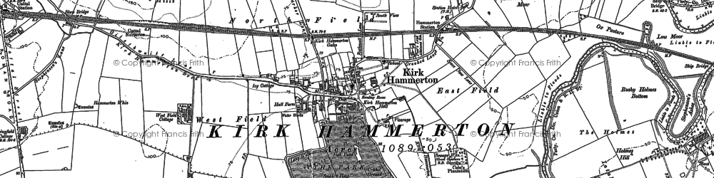 Old map of Wilstrop Village in 1892