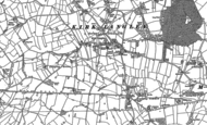 Old Map of Kirk Langley, 1881