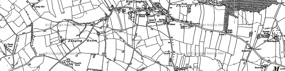 Old map of Windy Arbour in 1881