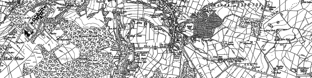 Old map of Kirkburton in 1888