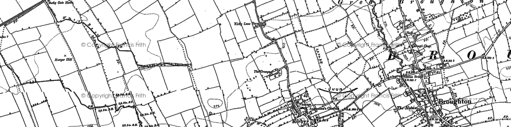 Old map of Kirkby in 1892