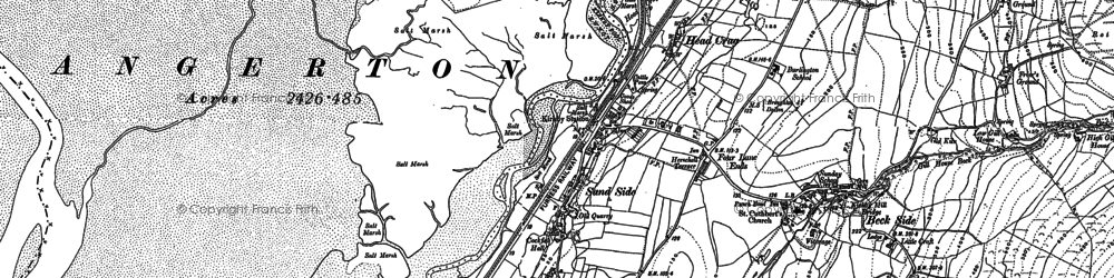 Old map of Kirkby-in-Furness in 1911