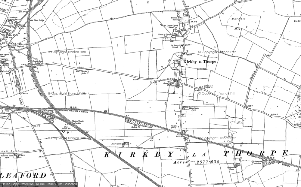 Old Map of Historic Map covering Bargate Hill in 1887