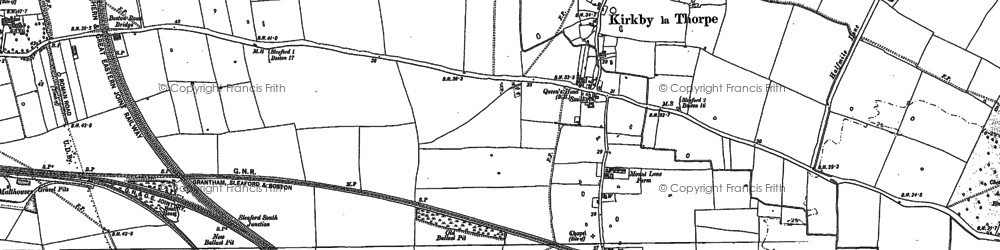 Old map of Bargate Hill in 1887