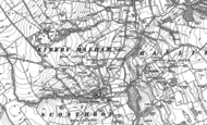 Old Map of Kirkby Malham, 1907