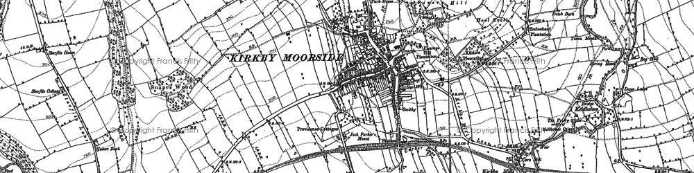 Old map of Woolah in 1853