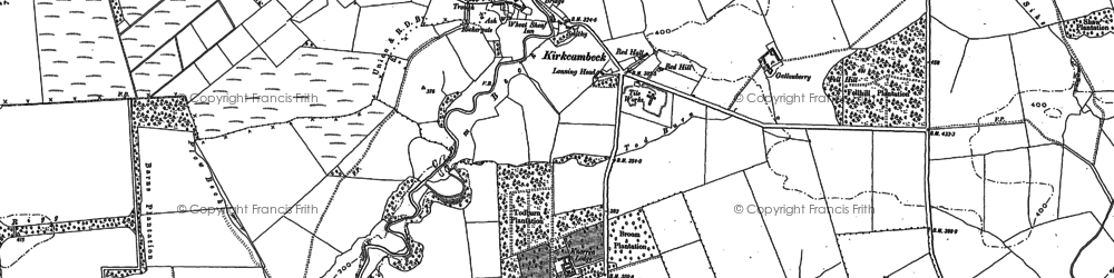 Old map of Allergarth in 1899