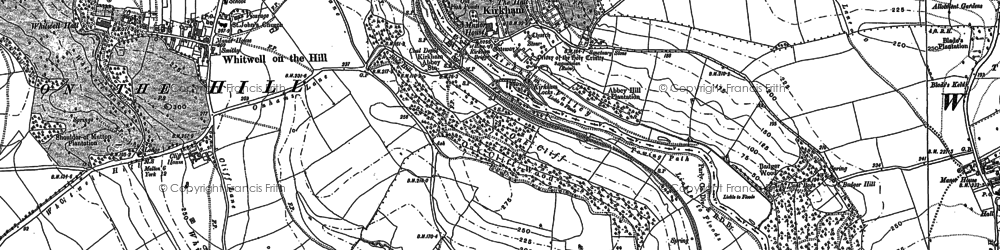 Old map of Kirkham in 1891