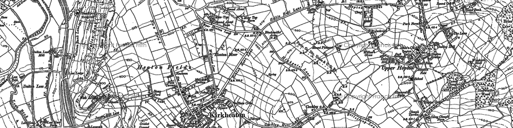 Old map of Kirkheaton in 1888