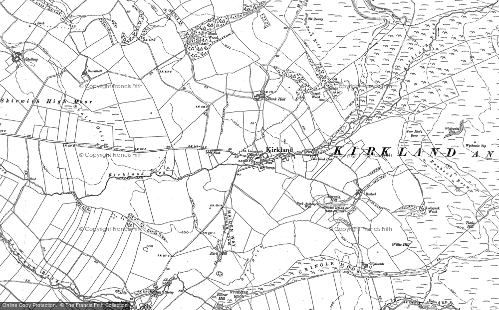 Old Map of Historic Map covering Wythwaite in 1897