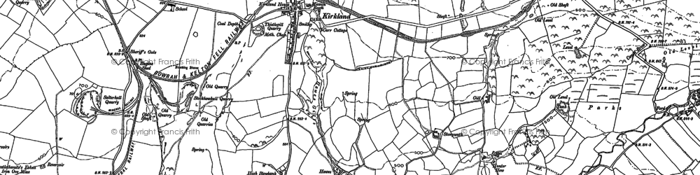 Old map of Leaps Beck in 1898