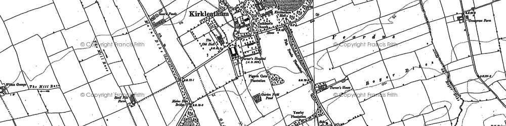 Old map of Kirkleatham in 1913