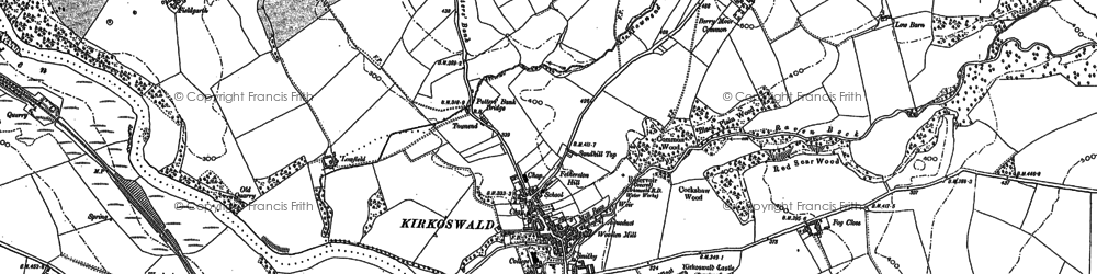 Old map of Westgarth Hill in 1898