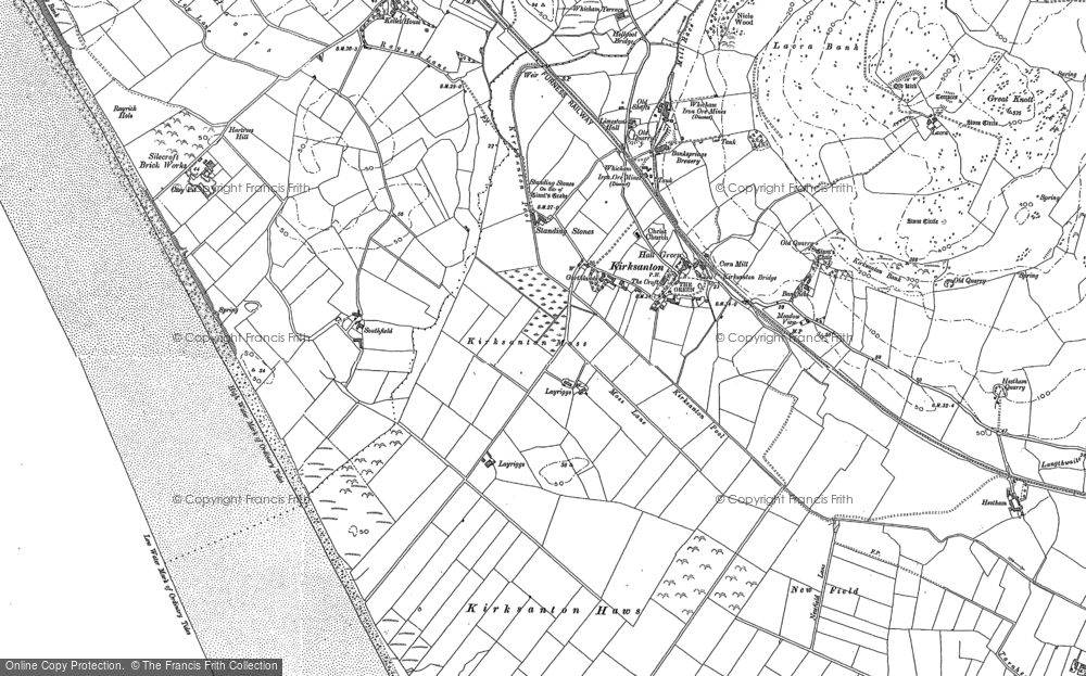Old Map of Historic Map covering Layriggs in 1922