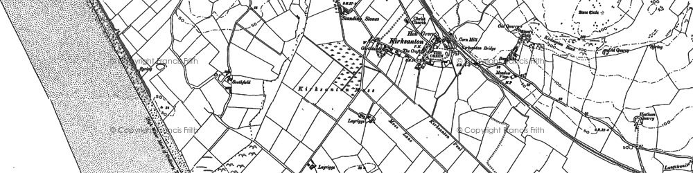 Old map of Kirksanton in 1922