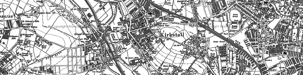 Old map of Kirkstall in 1847