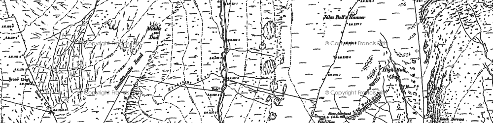 Old map of Woundale Beck in 1897