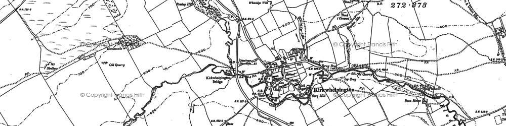 Old map of Whitridge Well in 1895