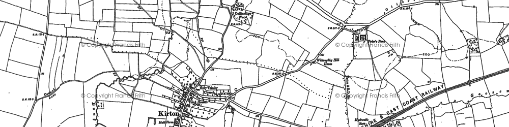 Old map of Laxton Common in 1883